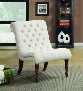 Coaster Traditional Oatmeal Slipper Chair
