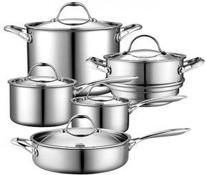 Cooks Standard 10 piece stainless steel cookware