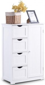 Giantex Bathroom Floor Wooden Cabinet