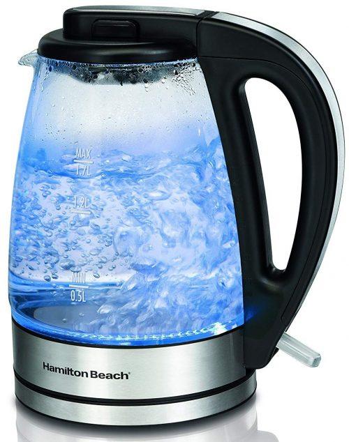 Hamilton Beach 40865 Glass Electric Kettle