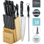 Kitch N' Wares Knife Set With Wooden Block