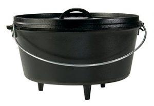 Lodge seasoned cast iron deep camp Dutch oven