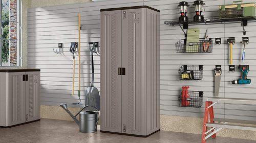 Suncast Tall Plastic Storage Cabinets