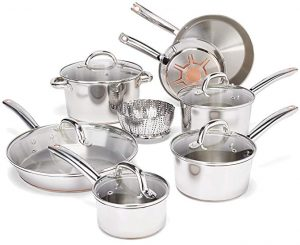 T-Fal- 13 pieces stainless Steel Cookware set