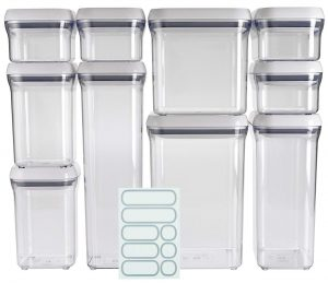 OXO Food Storage Containers, A Good Grips 10-Piece Airtight Food Storage Container Set