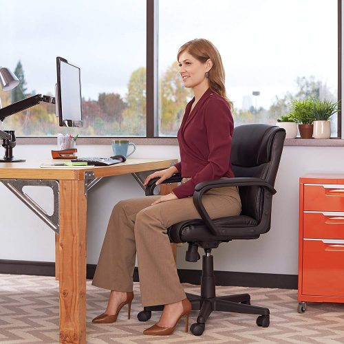 Amazon Basics mid-back office chair is good for both home office and working office.