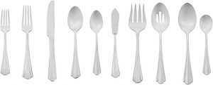 AmazonBasics, 45-pieces, stainless steel flatware set