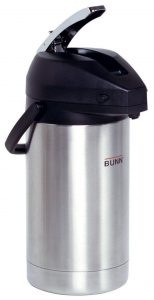 Bunn 32130.0000, Lever-action Airpot, Stainless Steel Coffee Carafes
