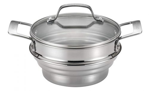Circulon Stainless steel universal steamer for food with lid