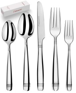 DOKAWORLD Silverware Set, 20 PCS