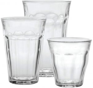 Duralex CC1/18 made in France drinking glasses