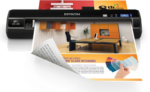 Epson, DS-40 Wireless Portable Document Scanner for PC and Mac, Sheet-fed, Mobile/Portable