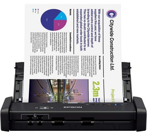 Epson, ES-200, Portable Document Scanner with ADF Duplex Scanning