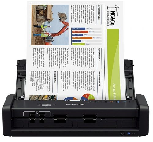 Epson ES-300W Portable Document Scanners, with ADF for PC, Sheet-fed and Duplex Scanning