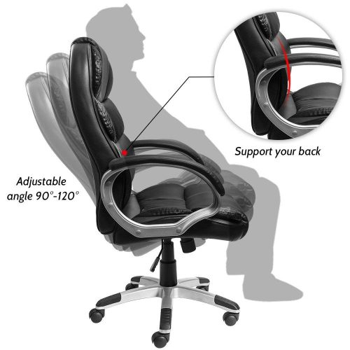 Furmax Leather Executive Desk Chair, An Office Chair with Lumber Support