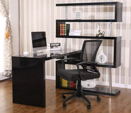 Furmax Mid Back Office Chair is design for those who likes leather seat and mess back support.