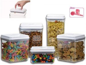 Guru products, 5-piece, Pop Up clear food container