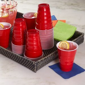 Hefty Party on plastic party cups, 50 count