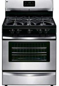 Kenmore 73433 freestanding gas range in stainless steel