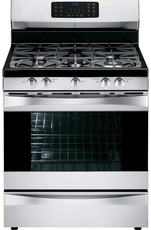 Kenmore Elite 75233 gas range in stainless steel