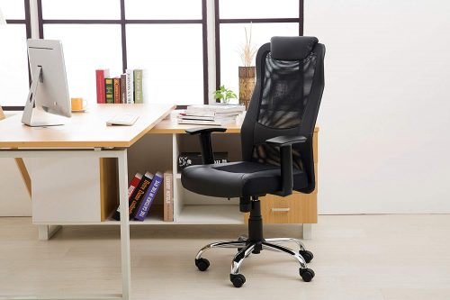 LCH Adjustable High Back Office Chair with Lumbar Support
