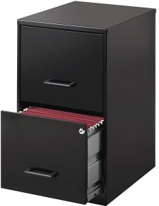 Lorell 14341, 2-Drawer File Cabinet- Easy to handle