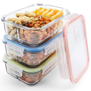 Mcirco Meal Prep containers 3 compartment