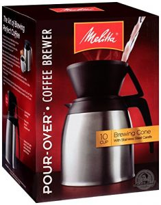 Melitta coffee maker with stainless thermal carafe