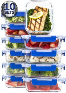 Misc Home Glass Prep meal containers