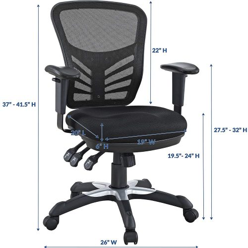 Modway Articulate Mesh Office Chair with Lumbar Support fits best with many kinds of office desks.