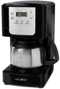 Mr. coffee JWX9-RB programmable coffee maker with stainless steel carafe