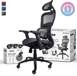 Nouhaus lumbar support office chair is good for office use and home use for its flexible functionalities.