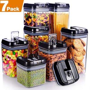 Senbowe, 7-piece, air-tight food storage container set