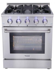 "Thor Kitchen HRG3080U30"" freestanding professional style gas range"