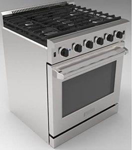 Thor Kitchen stainless steel gas range, LRG3001U