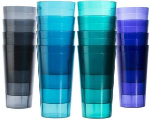 US Acrylic café 20-ounce break-resistance plastic cups