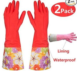BIAJIKitchen Rubber Cleaning Gloves
