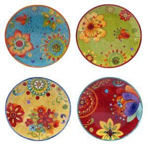 Certified international Tunisian sunset ceramic plates