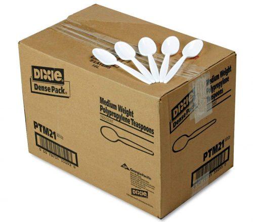 Dixie PTM21 Medium Weight Polypropylene Teaspoon