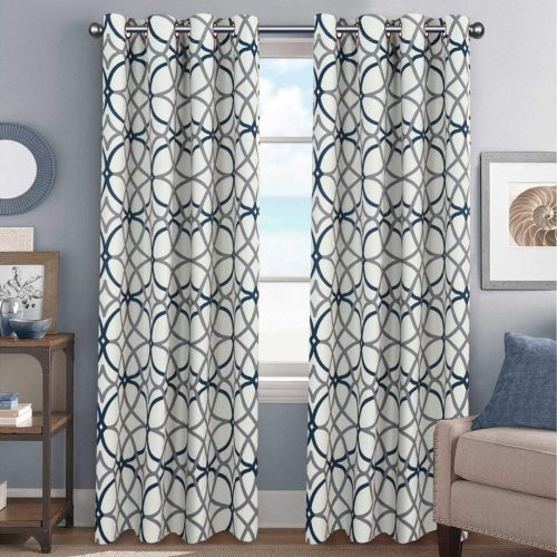 Elegant Natural Feeling 96 Inch Curtains Thermal Insulated Blackout Drape Home