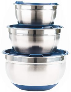Fitzroy and Fox non-slip stainless steel mixing bowls