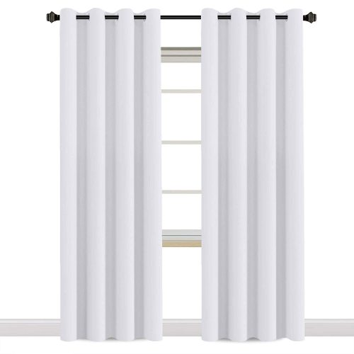 H.VERSAILTEX White Curtains 96 inches Long Window Treatment Panels/Drapes for Living Room