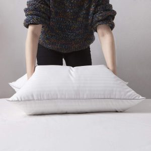 L LOVSOUL White Goose Down and Feather Bed Pillow