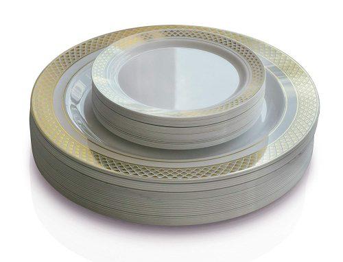 OCCASIONS 50-Pack Premium Disposable Plates