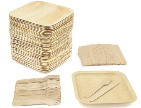 20 Count Natural Natural Compostable Plant Fiber 6 Plate Earths Natural Alternative Eco-Friendly