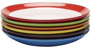 Premium ceramic set of 6 colorful meal stoneware