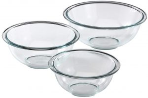 Pyrex Glass Mixing Bowl set