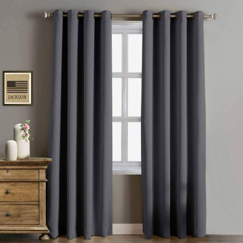 Rose Home Fashion RHF Funtion 96 ince Curtain, Blackout Curtains 96 inch, Bedroom Blackout Curtain