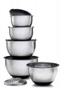 Sagler stainless steel mixing bowl set