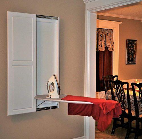 Slide-Away Ironing Boads Double Panel Door